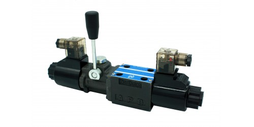 Solenoid Operated Directional Valve (Manual Handle For Safety Control